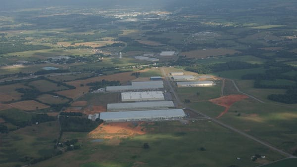 Aerial view of TN-KY Business Park